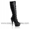 DELIGHT-2049 Black Faux Leather